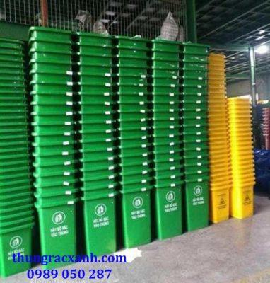 Kho thùng rác nhựa HDPE 120 lít giá rẻ