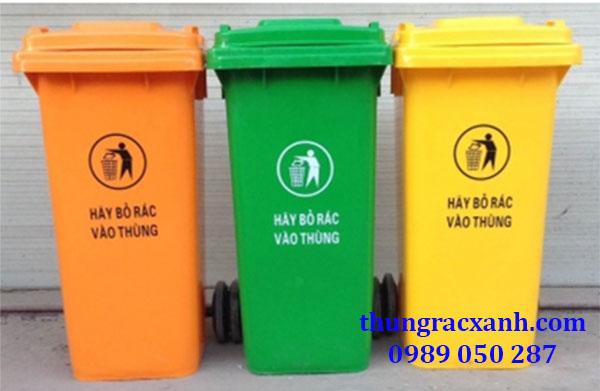 Thùng rác nhựa HDPE 120 lít giá rẻ