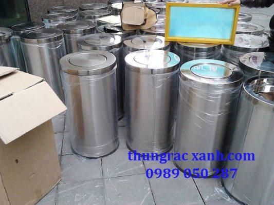 Kho thùng rac inox nắp lật giá rẻ tại Hà Nội