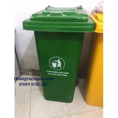 Thùng rác nhựa composite 120 lít giả rẻ