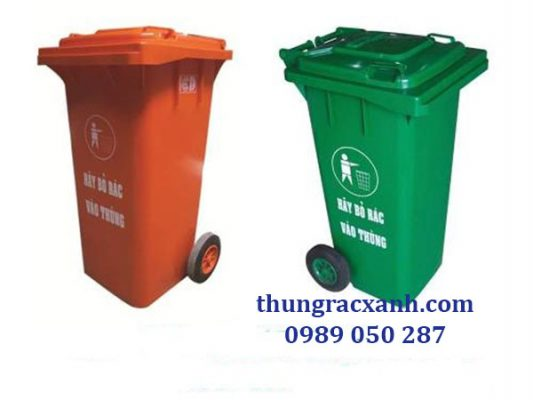Thùng rác nhựa 120 lít giá rẻ