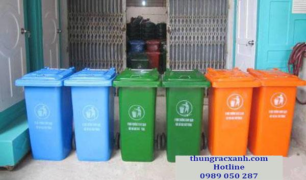 Kho thùng rác nhựa composite 120 lít giá rẻ