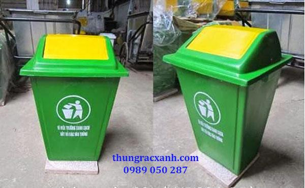 Kho thùng rác nhựa composite đế đá