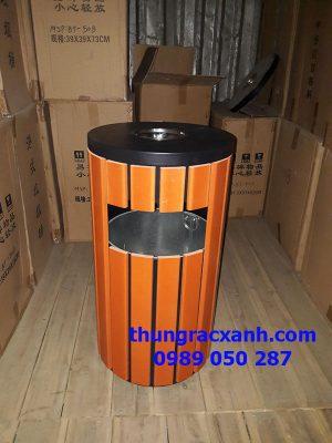 Thùng rác ngoài trời có gạt tàn A78-C tại kho