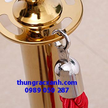 Cột chắn dây nhung inox vàng