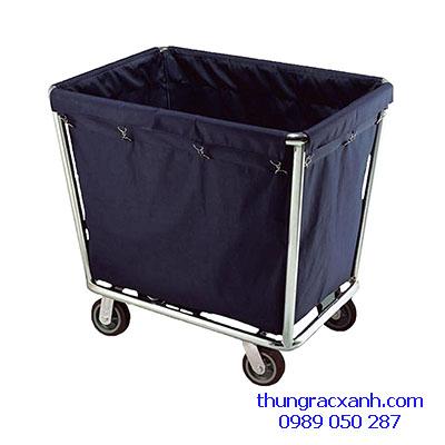 Xe thu gom đồ giặt là bằng inox