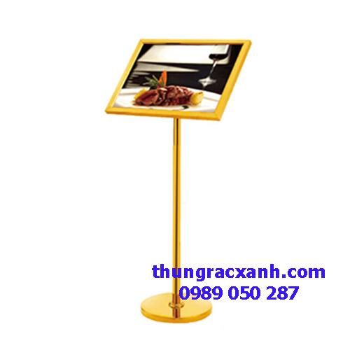 Bảng menu inox mạ vàng giá rẻ ZP51