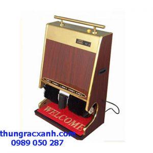 máy đánh giầy mặt inox kết hợp với gỗ