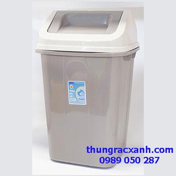 thùng rác nhựa nắp bập bênh
