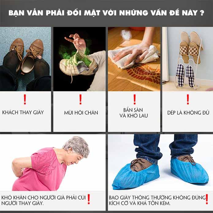 Máy bọc giày thông minh giải quyết các vấn đề