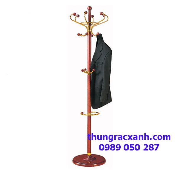 Cây treo quần áo inox kết hợp gỗ cao cấp
