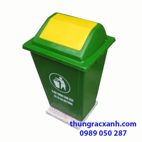 Thùng rác nhựa composite đế đá 60 lít