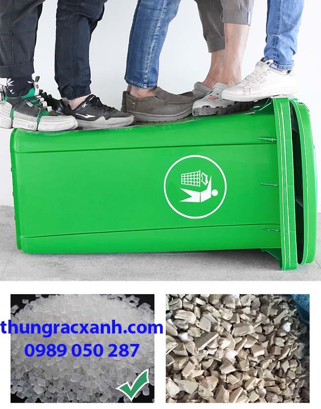 Chất liệu nhựa HDPE độ bền cao