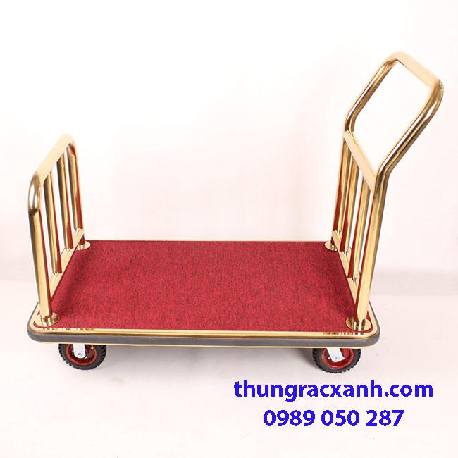 Xe đẩy hành lý inox vàng giá rẻ nhất thị trường