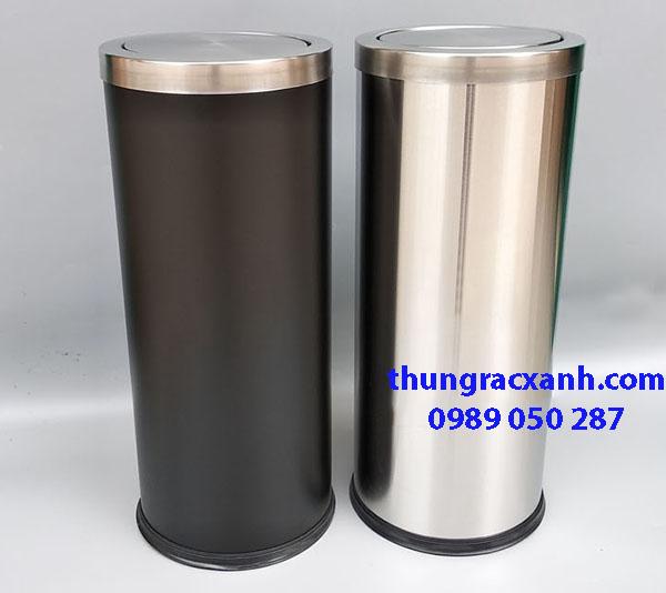 Thùng rác inox tròn nắp lật sản phẩm được ưa chuộng trên thị trường